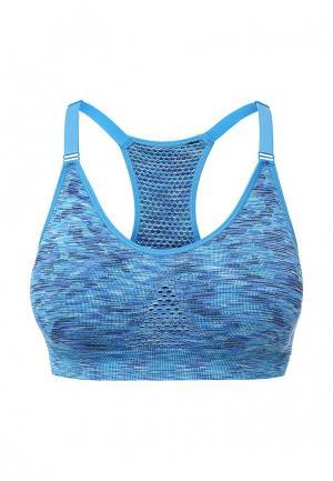 Топ спортивный Allegri. Цвет: голубой
