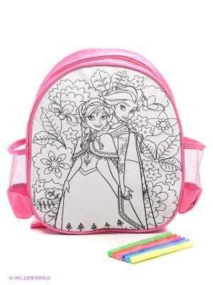 Набор для раскрашивания рюкзака  Холодное сердце Фабрика Фантазий. Цвет: розовый