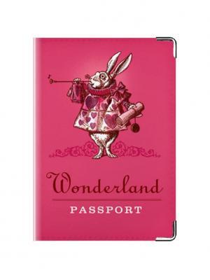 Обложка для паспорта жителя Страны Чудес Tina Bolotina. Цвет: розовый