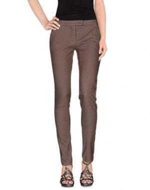 Джинсовые брюки E-GÓ. Цвет: какао