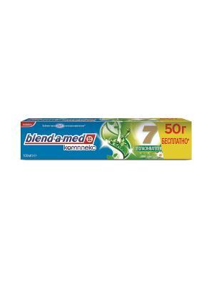 Зубная паста Комплекс 7 Ополаскиватель Травы 150мл BLEND_A_MED. Цвет: голубой