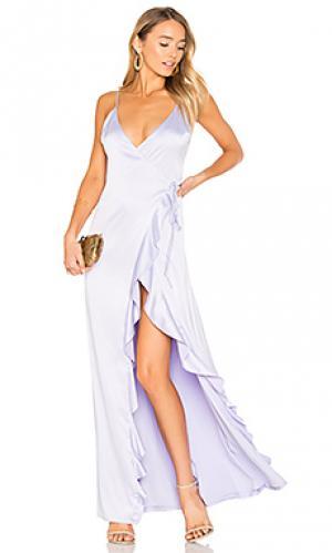 Платье с запахом pelican Privacy Please. Цвет: бледно-лиловый