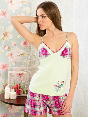 Пижама HAYS. Цвет: розовый, салатовый
