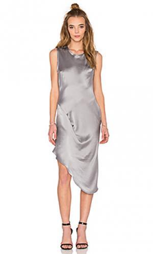 Платье KES. Цвет: серый