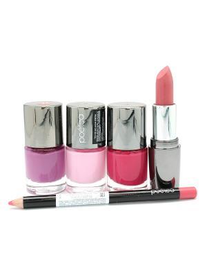 Промо-набор POETEQ. Цвет: розовый, малиновый, сиреневый
