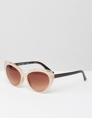 AJ Morgan Солнцезащитные очки кошачий глаз в серо-коричневой оправе с металличес. Цвет: бежевый