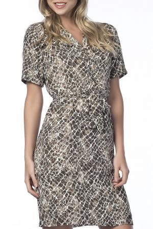 Платье NARAMAXX. Цвет: серый