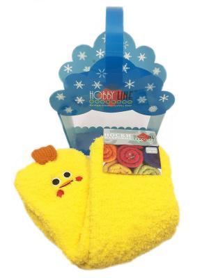 Новогодние носочки в подарочной упаковке HOBBY LINE. Цвет: желтый