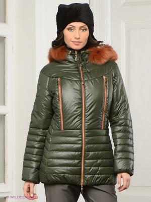Куртка Alisa Line. Цвет: темно-зеленый