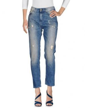 Джинсовые брюки SUPERTRASH. Цвет: синий