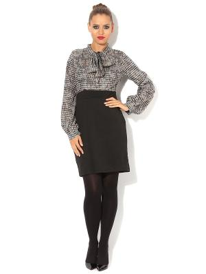 Платье TuttoBene. Цвет: черный, серый, белый