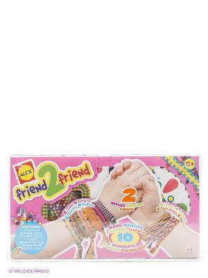 Набор для плетения браслетов Alex. Цвет: розовый