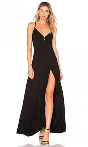 Макси-платье с запахом dita Clayton. Цвет: черный