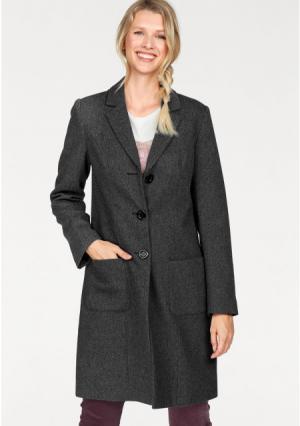 Пальто CHEER. Цвет: серый/черный