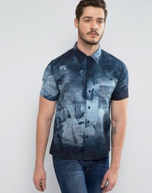 Nudie Jeans Рубашка с принтом Co Brandon. Цвет: черный
