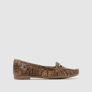 Ботинки-дерби кожаные ANNE WEYBURN. Цвет: бежевый