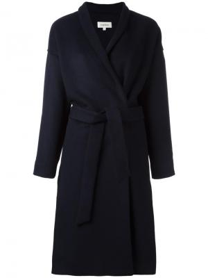 Однобортное пальто Toteme. Цвет: синий