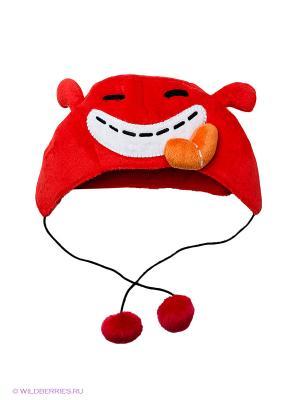 Костюмированная шапка Dooodolls. Цвет: красный, оранжевый, белый