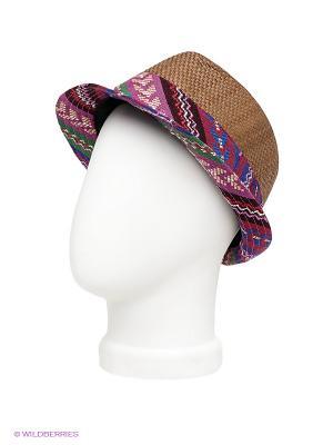 Шляпа Maxval. Цвет: коричневый, бордовый