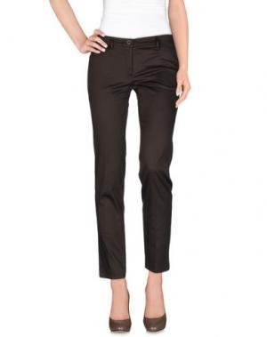 Повседневные брюки LUPATTELLI. Цвет: темно-коричневый
