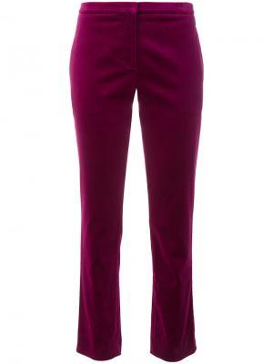 Укороченные брюки Theory. Цвет: розовый и фиолетовый