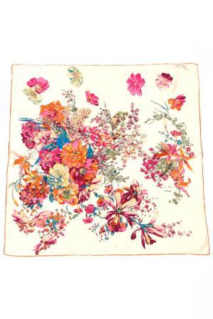 Платок F.FRANTELLI. Цвет: розовый, синий на молочном фон