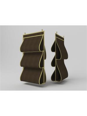 Кофр д/сумок, двусторонний, 40х70см Камея. Цвет: коричневый
