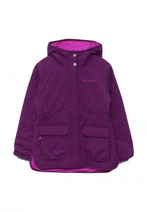 Куртка утепленная Columbia. Цвет: фиолетовый