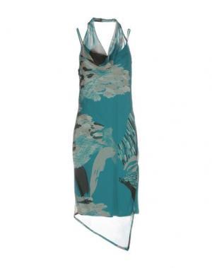 Платье до колена BARONI. Цвет: бирюзовый