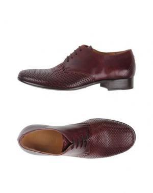 Обувь на шнурках 01000010 BY BOCCACCINI. Цвет: баклажанный