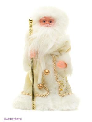 Дед Мороз в золотом 30 см, мех., муз., песня лесу родилась елочка Новогодняя сказка. Цвет: белый, золотистый