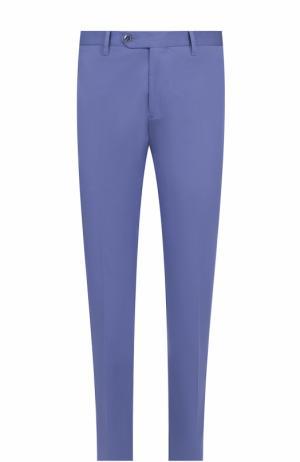 Хлопковые брюки прямого кроя Germano. Цвет: голубой
