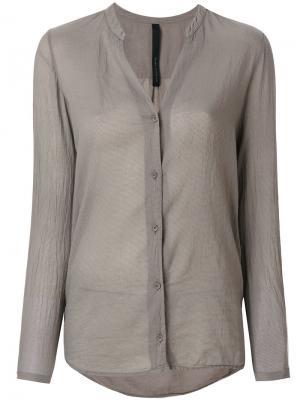Блузка с Vобразным вырезом Poème Bohémien. Цвет: серый
