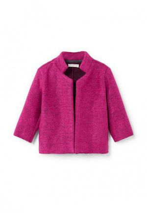 Пальто Mango Kids. Цвет: розовый