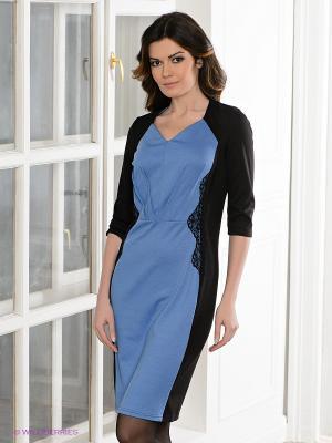Платье Spicery. Цвет: черный, синий