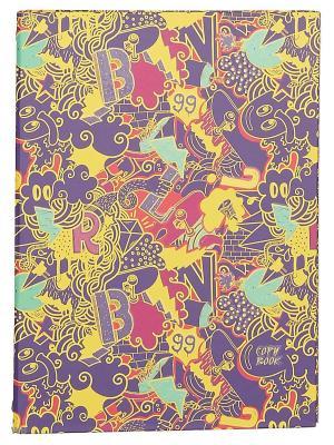 Тетрадь на кольцах 120 листов.Граффити Канц-Эксмо. Цвет: фиолетовый, желтый, розовый