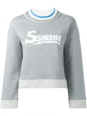 Толстовка с логотипом Ssheena. Цвет: серый