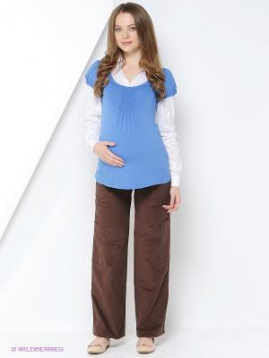 Блуза Mamita. Цвет: голубой