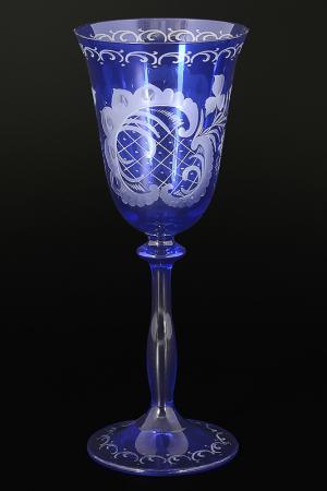 Набор фужеров для вина 185 мл Bohemia. Цвет: синий
