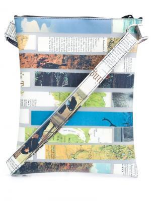Magazine stripe crossbody bag Luisa Cevese Riedizioni. Цвет: многоцветный
