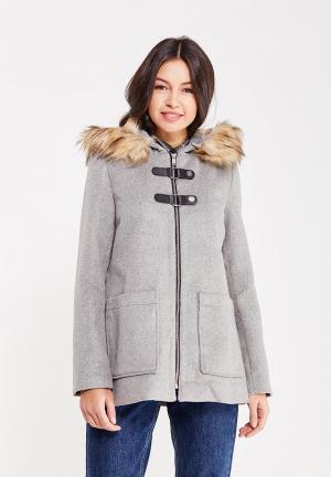 Пальто Jennyfer. Цвет: серый