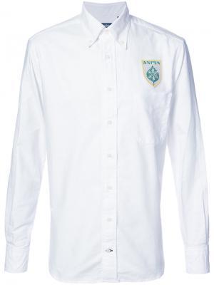 Рубашка с вышивкой логотипа Gitman Vintage. Цвет: белый
