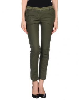 Повседневные брюки G.T.A. MANIFATTURA PANTALONI. Цвет: темно-зеленый