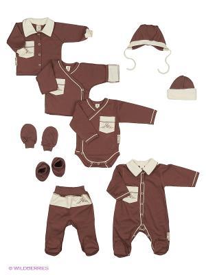 Подарочный набор Классик Lucky Child. Цвет: коричневый