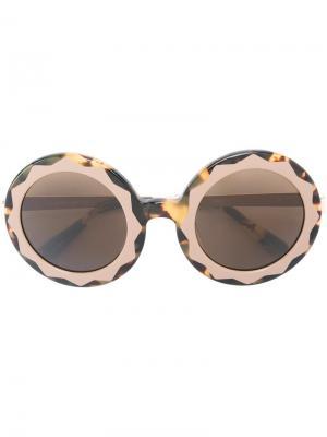 Солнцезащитные очки Markus Lupfer. Цвет: коричневый