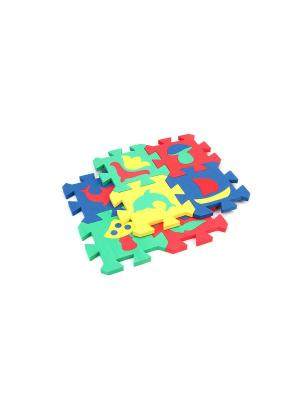 Развивающий коврик Мозаика (14х14см, 8 шт.) БОМИК. Цвет: синий, желтый, красный