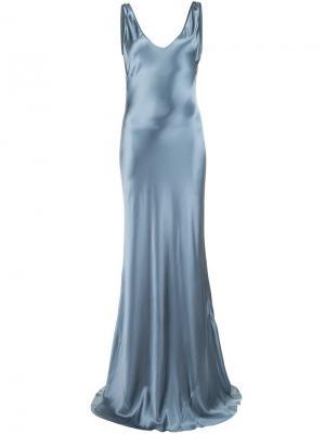 Платье на бретельках Galvan. Цвет: серый