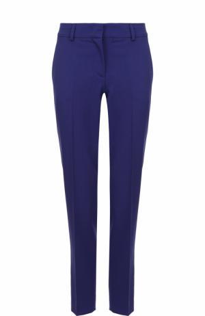 Укороченные шерстяные брюки Emilio Pucci. Цвет: темно-синий