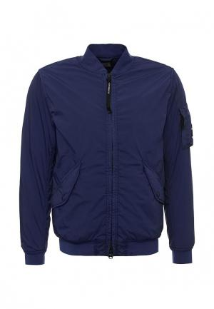 Куртка утепленная C.P. Company. Цвет: синий