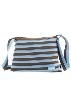 Сумка Medium Shoulder Bag ZIPIT. Цвет: голубой, коричневый